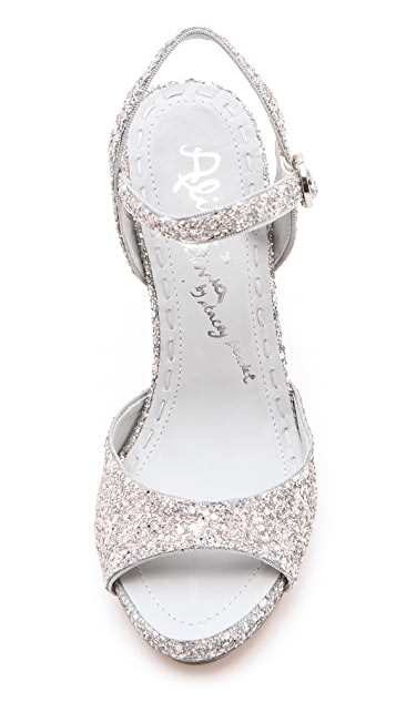 alice + olivia Posey Glitter Sandals
