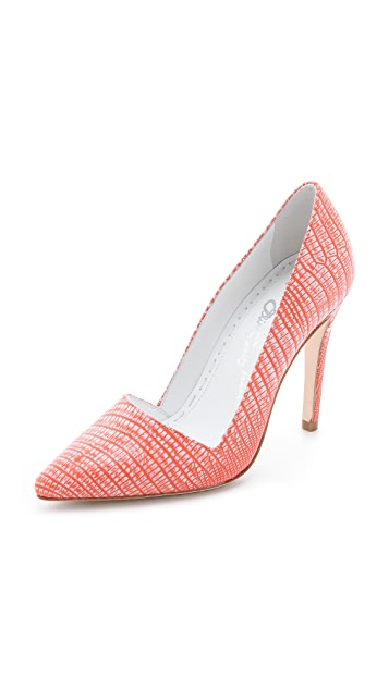 alice + olivia Dina Neon Embossed Pumps