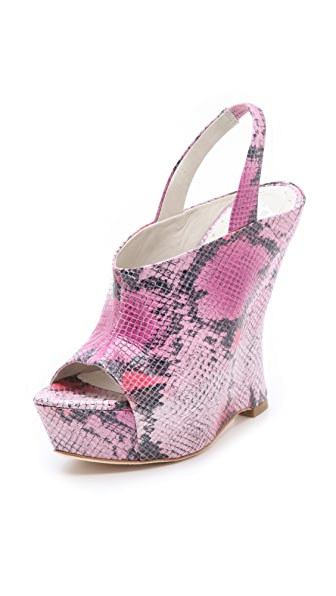 alice + olivia Denise Snake Wedge Sandals
