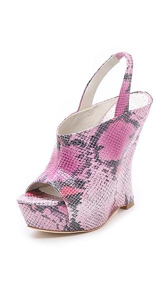 alice + olivia Denise Snake Wedge Sandals