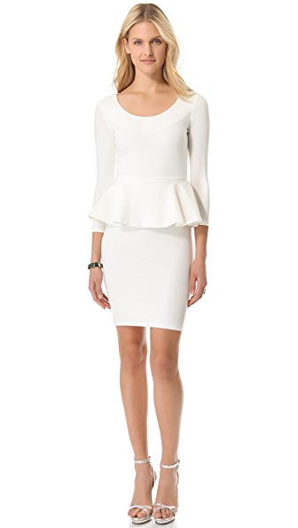 alice + olivia Amanda Peplum Dress