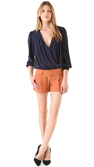 alice + olivia Eric Cuffed Shorts