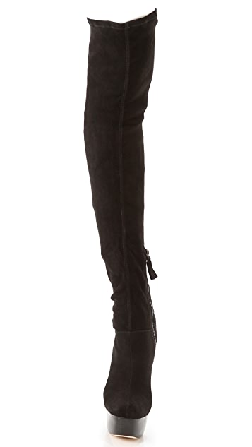 alice + olivia Luke Suede Over the Knee Boots