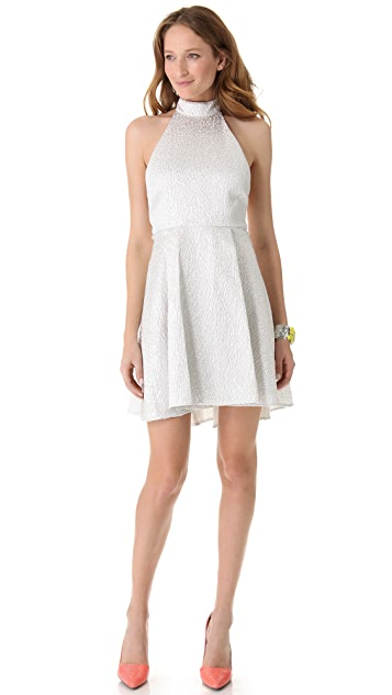 alice + olivia Corina Trapeze Hem Dress