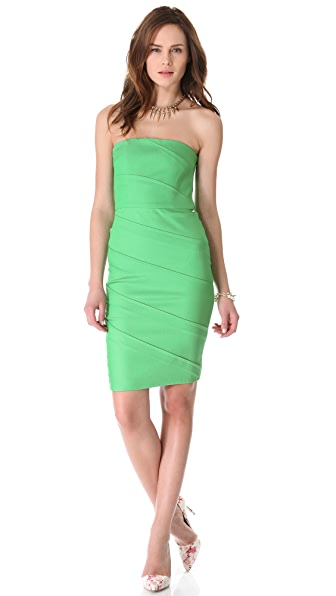 alice + olivia Venus Strapless Dress