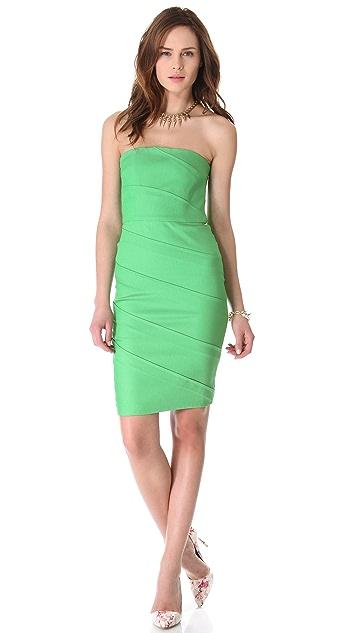 alice + olivia Venus Strapless Dress