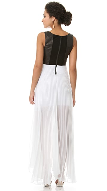 alice + olivia Leather Bodice Dress
