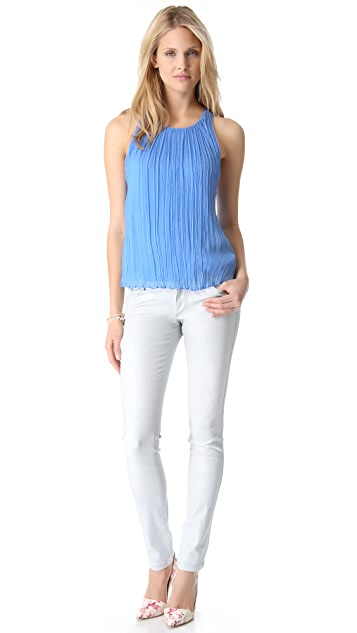 alice + olivia Gathered Y Back Top