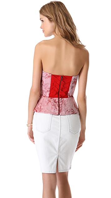 alice + olivia Structured Strapless Bustier Top