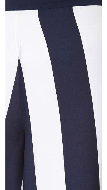alice + olivia Super Flare Striped Pants