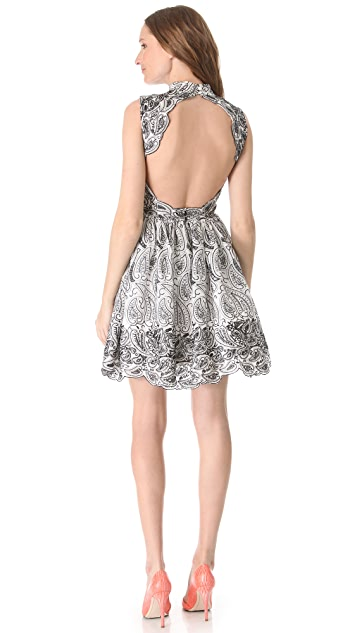 alice + olivia Sleeveless Flare Dress