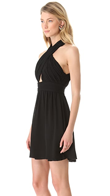 alice + olivia Wrap Bodice Dress