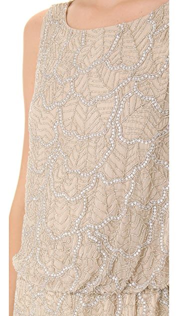 alice + olivia Drop Waist Beaded Dress