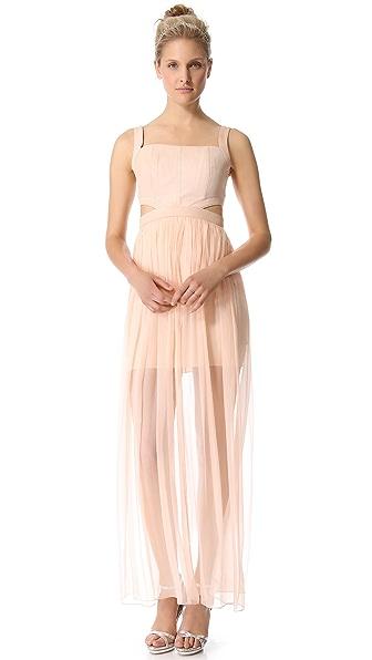 alice + olivia Sweetheart Cutout Dress