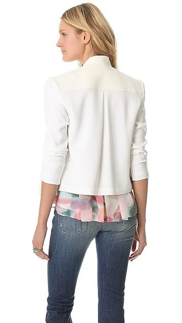 alice + olivia Drop Shoulder Leather Jacket