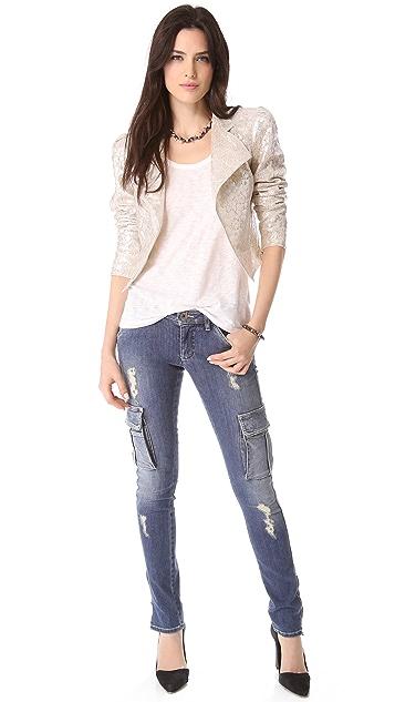 alice + olivia Lace Moto Jacket