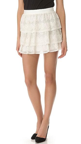 alice + olivia Crochet Ruffle Skirt