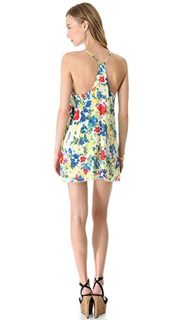 alice + olivia Fierra Y Back Printed Dress
