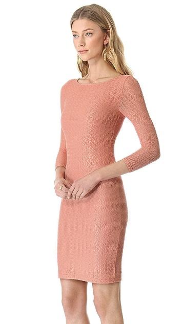 alice + olivia Sheer Back Fitted Dress
