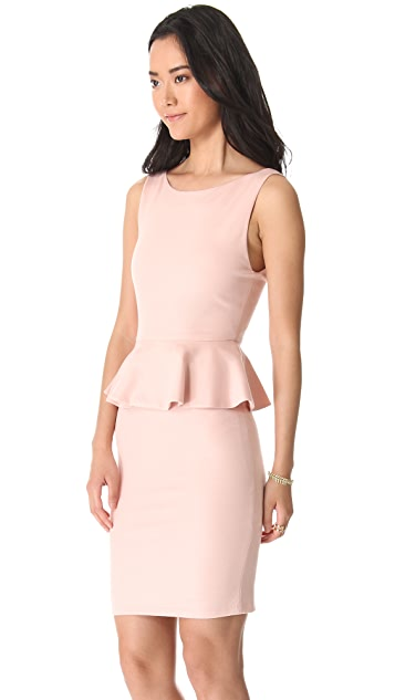 alice + olivia Tracey Sleeveless Peplum Dress