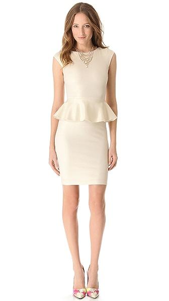 alice + olivia Victoria Sparkle Peplum Dress