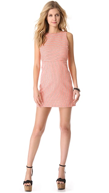 alice + olivia Eli Boat Neck Dress