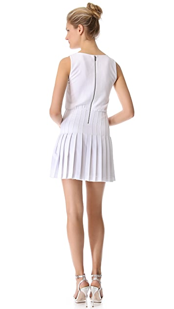 alice + olivia Shaun Pleated Dress