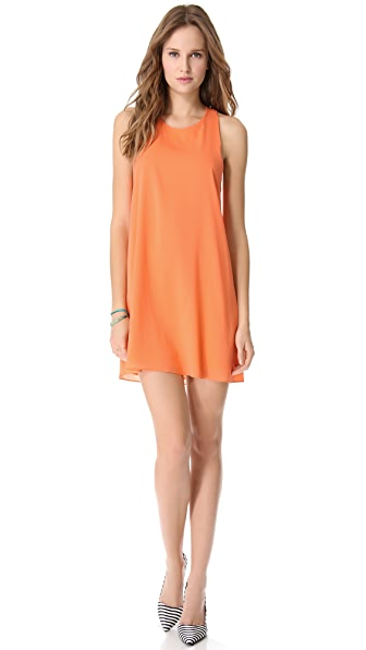 alice + olivia Marion Twist Back Mini Dress