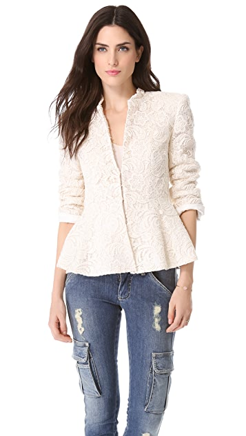alice + olivia Polly Peplum Jacket