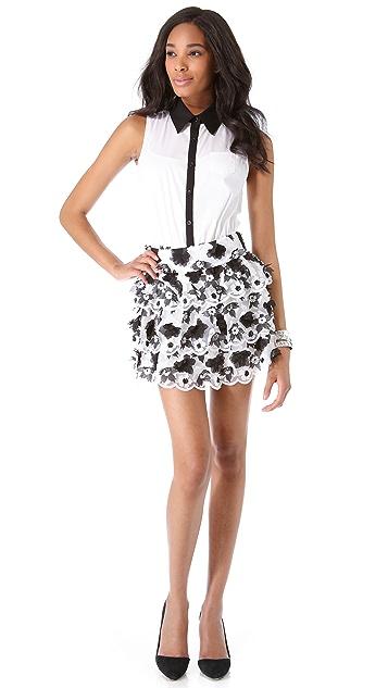 alice + olivia Margarita Tiered Skirt