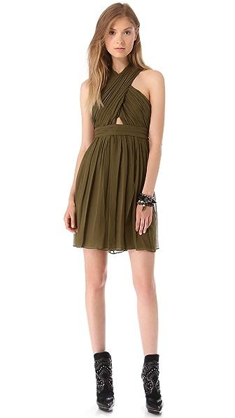 alice + olivia Caldwell Wrap Bodice Dress