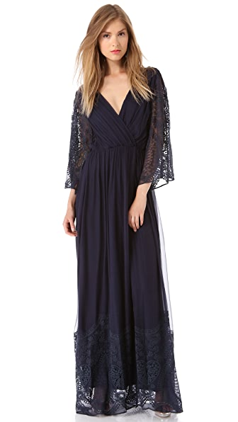 alice + olivia Brielle Long Kimono Dress