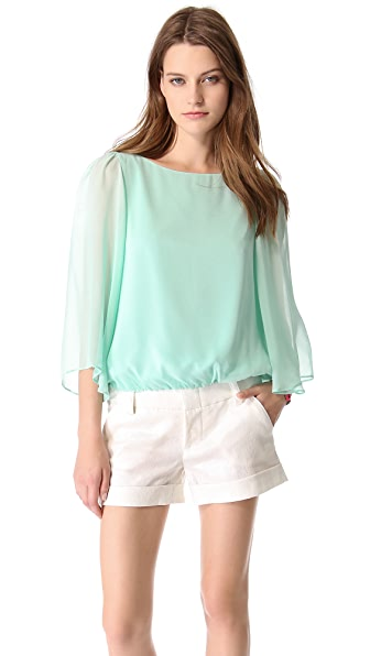 alice + olivia Katelyn Drop Sleeve Top