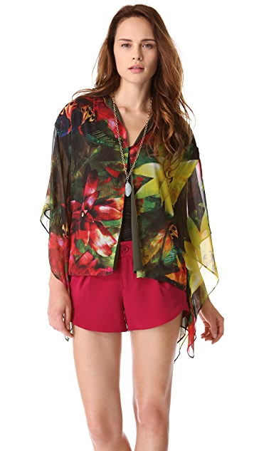 alice + olivia Brighton Cropped Kimono Jacket