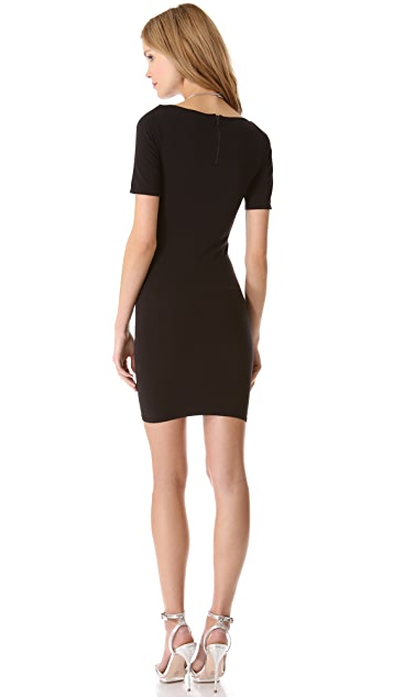 alice + olivia Tubular Boat Neck Dress
