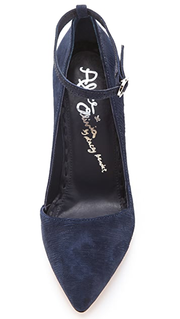 alice + olivia Diana Ankle Strap Pumps
