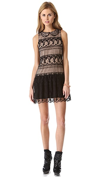 alice + olivia Peri Drop Waist Dress