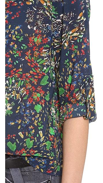 alice + olivia Sid Rolled Sleeve Top