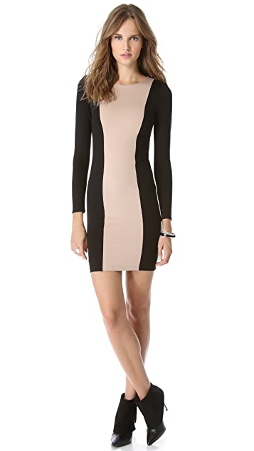 alice + olivia Amena Colorblock Dress