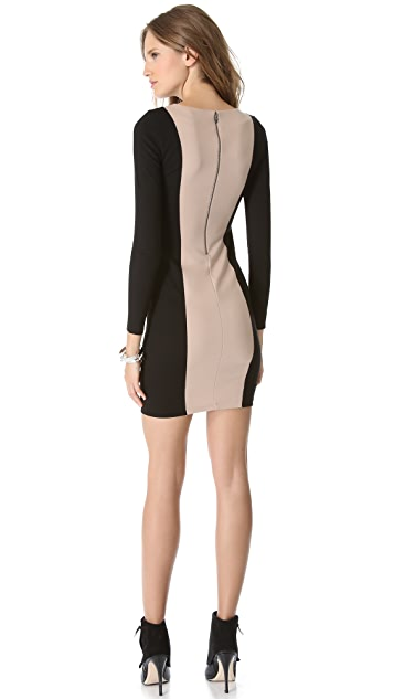 alice + olivia Amena Colorblock Dress