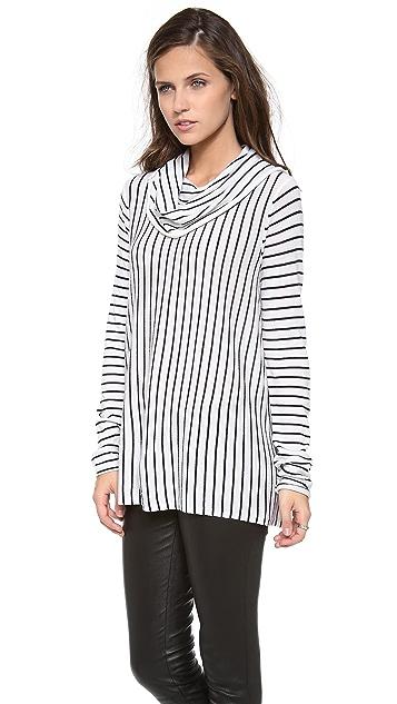 alice + olivia Drape Stripe Sweater