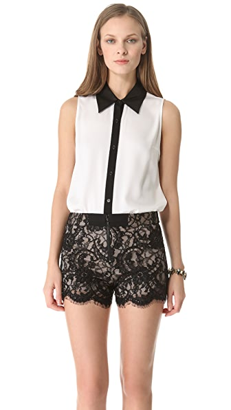 alice + olivia Loira Sleeveless Blouse