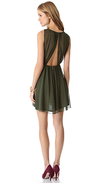 alice + olivia Halter Flirt Dress