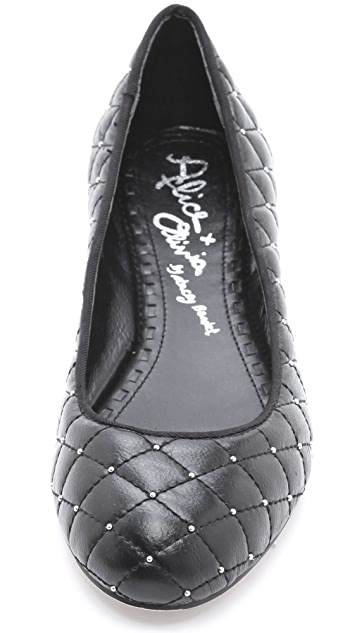 alice + olivia Diane Quilted Ballet Flats