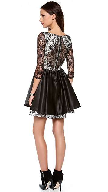 alice + olivia Katelyn Lace Dress