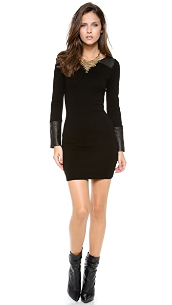 alice + olivia Daynah Quilted Shoulder Dress