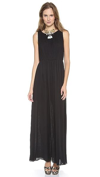 alice + olivia Jayden Pleated Maxi Dress