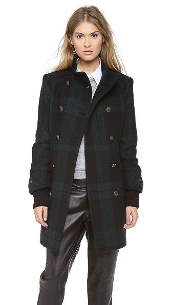 alice + olivia Rhonda High Neck Coat