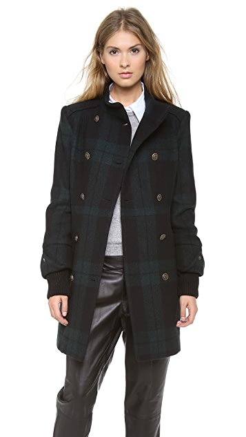 alice + olivia Rhonda High Neck Coat