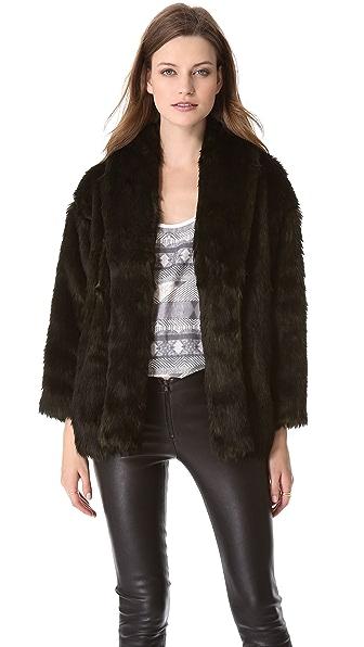 alice + olivia Alita Faux Fur Coat